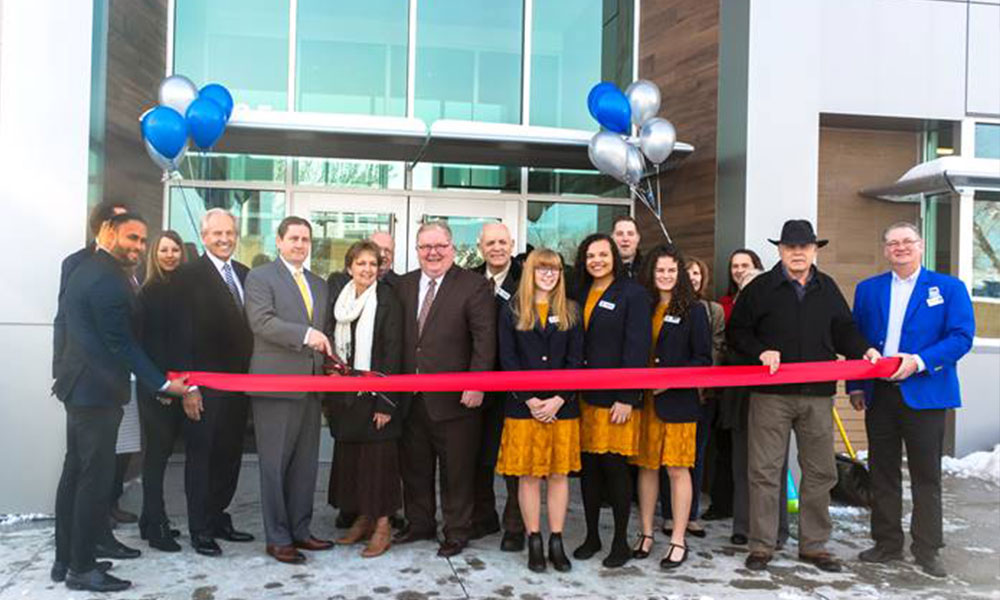 ribbon cutting at the Taylorsville grand opening
